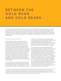 Between the Gold Bugs and Gold Bears
